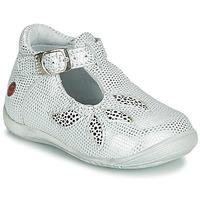 Pantofi Fete Sandale și Sandale cu talpă  joasă GBB MARIE Alb / Argintiu