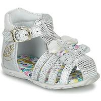Pantofi Fete Sandale și Sandale cu talpă  joasă Catimini CYGNE Argintiu