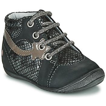 Pantofi Fete Ghete GBB NOEMIE Negru / Argintiu