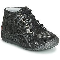 Pantofi Fete Ghete GBB NAOMI Negru / Argintiu