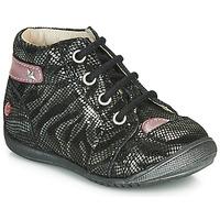 Pantofi Fete Ghete GBB NICOLE Negru / Argintiu