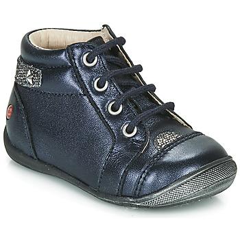 Pantofi Fete Ghete GBB NICOLE Albastru / Argintiu