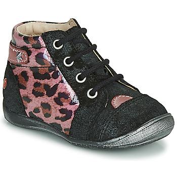 Pantofi Fete Ghete GBB NICOLE Negru / Roz