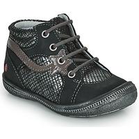 Pantofi Fete Ghete GBB NORA Negru / Argintiu