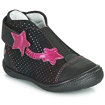 Pantofi Fete Ghete GBB NOLWENN Negru / Roz