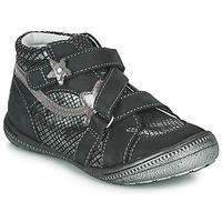 Pantofi Fete Ghete GBB NINA Negru / Argintiu