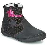 Pantofi Fete Ghete GBB NADIA Negru / Roz