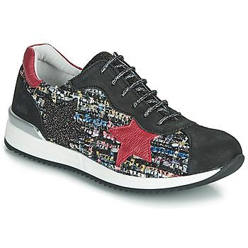 Pantofi Fete Pantofi sport Casual Achile LAURA Negru / Roșu /  multicolor
