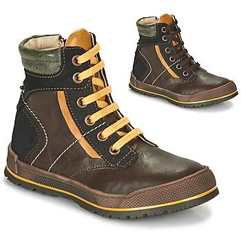 Pantofi Băieți Ghete Achile MANUEL Maro / Galben