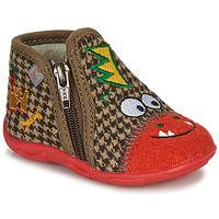Pantofi Băieți Papuci de casă GBB NEREO Roșu / Maro