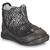 Pantofi Fete Ghete Ikks SCARLET Negru / Argintiu