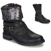 Pantofi Fete Cizme casual Ikks FLORA Negru / Argintiu