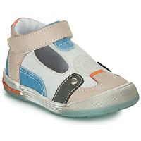 Pantofi Băieți Sandale și Sandale cu talpă  joasă GBB PERCEVAL Alb / Bej / Albastru