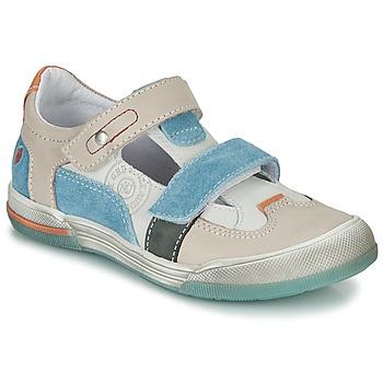Pantofi Băieți Sandale și Sandale cu talpă  joasă GBB PRINCE Ecru / Bej / Albastru
