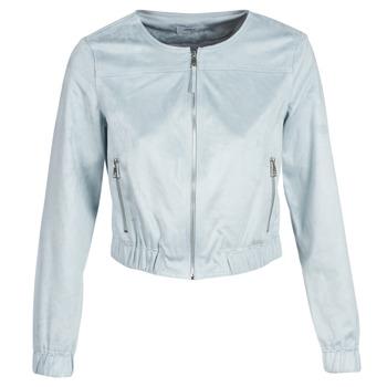 Îmbracaminte Femei Jachete din piele și material sintetic Only ONLLEONA Albastru