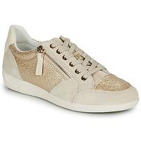 Pantofi Femei Pantofi sport Casual Geox MYRIA Auriu / Crem