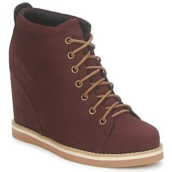 Pantofi Femei Botine No Name WISH DESERT BOOTS Roșu-bordeaux