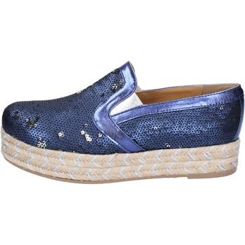 Pantofi Femei Espadrile Olga Rubini slip on blu tessuto paillettes BS110 Blu