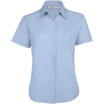 Îmbracaminte Femei Cămăși și Bluze Sols ESCAPE POPELIN WOMEN Azul