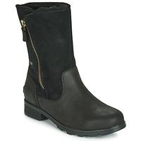 Pantofi Femei Ghete Sorel EMELIE FOLDOVER Negru