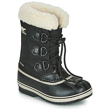 Pantofi Copii Cizme de zapadă Sorel YOOT PAC NYLON Negru