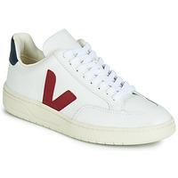 Pantofi Pantofi sport Casual Veja V-12 LEATHER Alb / Albastru / Roșu