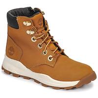 Pantofi Copii Pantofi sport stil gheata Timberland BROOKLYN SNEAKER BOOT Maro