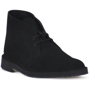 Pantofi Ghete Clarks DESERT BOOT BLK Nero