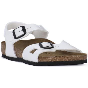 Pantofi Băieți Sandale  Birkenstock RIO WHITE Bianco