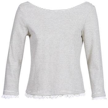 Îmbracaminte Femei Tricouri cu mânecă lungă  Betty London KARA Alb / Bleumarin