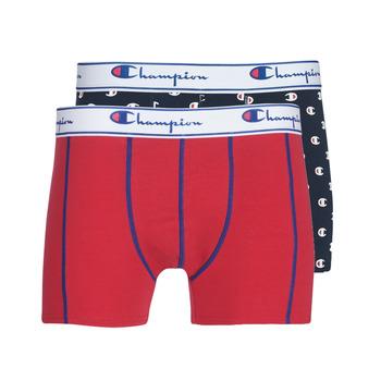 Lenjerie intimă Bărbați Boxeri Champion MIX UNI + IMPRIME X2 Negru / Roșu