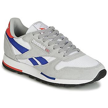Încăltăminte Pantofi sport Casual Reebok Classic CL LEATHER MU Gri / Albastru
