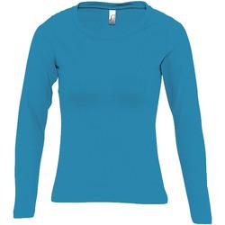 Îmbracaminte Femei Tricouri cu mânecă lungă  Sols MAJESTIC COLORS GIRL Azul