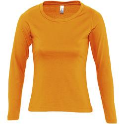 Îmbracaminte Femei Tricouri cu mânecă lungă  Sols MAJESTIC COLORS GIRL Naranja