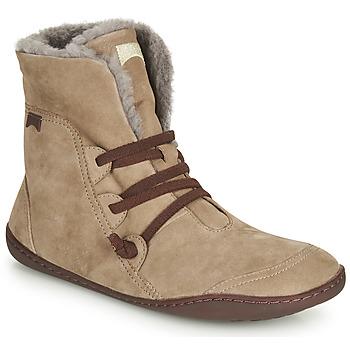 Pantofi Femei Ghete Camper PEU CAMI Bej