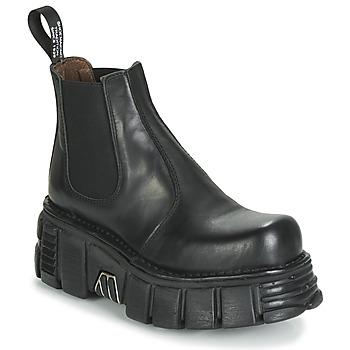 Pantofi Ghete New Rock M-1554-C1 Negru