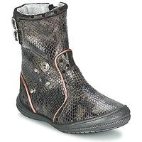 Pantofi Fete Cizme casual Catimini CLABAUD Bronz / Negru