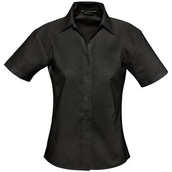 Îmbracaminte Femei Cămăși și Bluze Sols ELITE OXFORD Negro