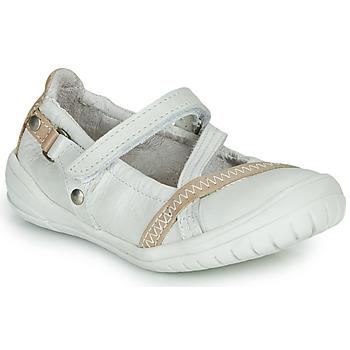 Pantofi Fete Balerin și Balerini cu curea Ramdam BEZIERS Alb
