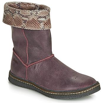 Pantofi Fete Cizme casual Ramdam CRACOVIE Roșu-bordeaux
