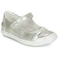 Pantofi Fete Balerin și Balerini cu curea GBB MARION Argintiu
