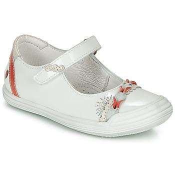 Pantofi Fete Balerin și Balerini cu curea GBB MARION Alb