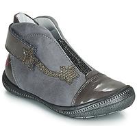 Pantofi Fete Ghete GBB NOLWENN Gri / Argintiu