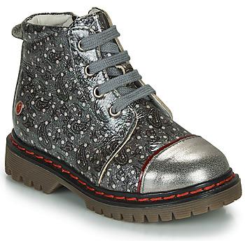 Pantofi Fete Ghete GBB NEVA Gri / Metalizat