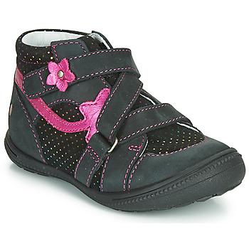 Pantofi Fete Ghete GBB NINA Negru / Roz