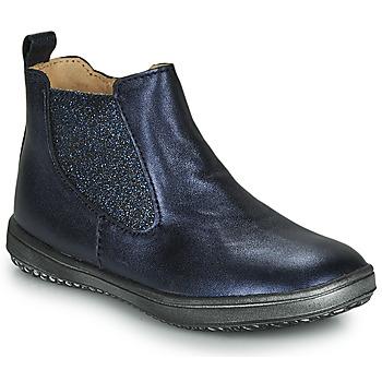 Pantofi Fete Ghete Achile SARA Bleumarin