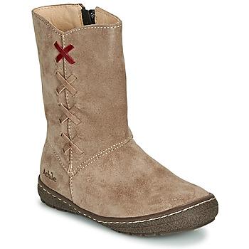 Pantofi Fete Cizme casual Achile SOFIA Bej