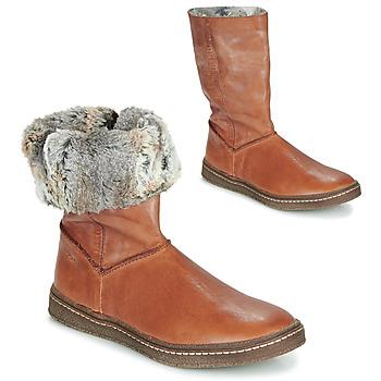 Pantofi Fete Cizme casual Achile DUBROVNIK Coniac