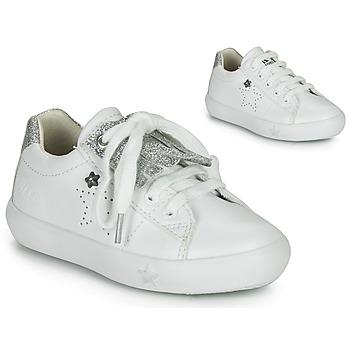 Pantofi Fete Pantofi sport Casual Ikks MOLLY Alb / Argintiu