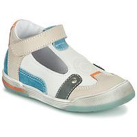 Pantofi Băieți Sandale  GBB PERCEVAL Alb / Bej / Albastru